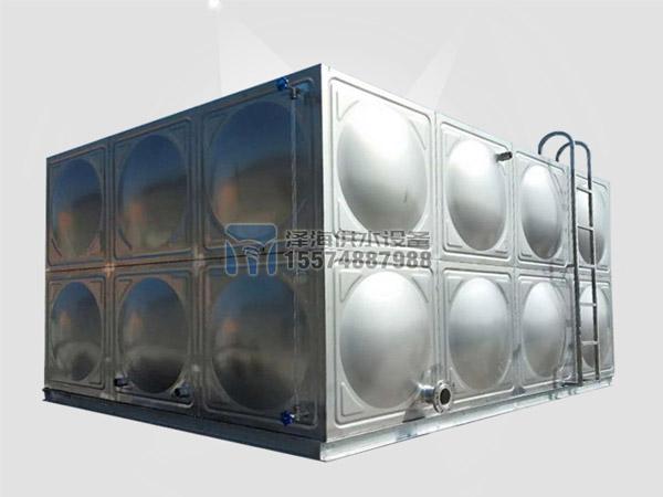 24吨不锈钢水箱成品展示图
