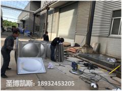 宁乡工厂不锈钢生活水箱安装现场